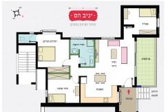 Exclusive sale! all new, 4 room apartment at Rakhel St. Carmelia, Haifa