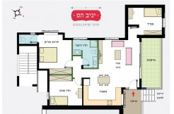 Exclusive sale! all new, 4 room apartment at Rakhel St. Carmelia, Haifa